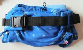 Tündérputtony hibrid hordozó (csatos derék, kötős vállpánt) kék pitypang