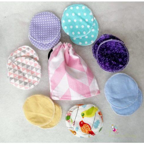Mosható arctisztító korong szett ajándék mosózsákkal - blue bag
