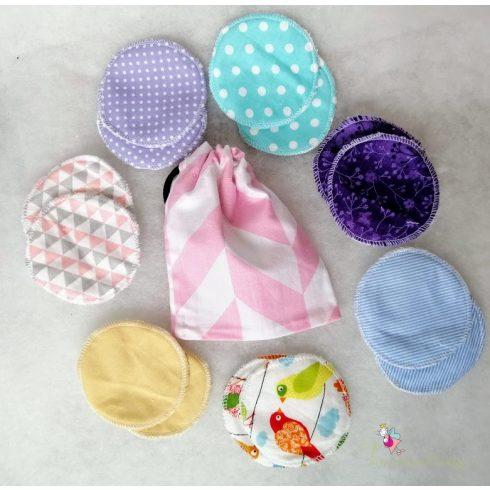 Mosható arctisztító korong szett  - pink bag
