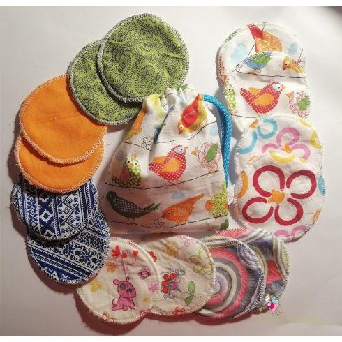 Mosható arctisztító korong szett ajándék mosózsákkal - bagoly