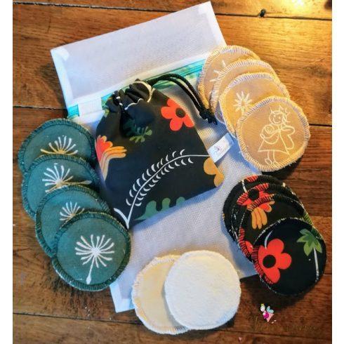 Mosható arctisztító korong szett ajándék mosózsákkal - ősz