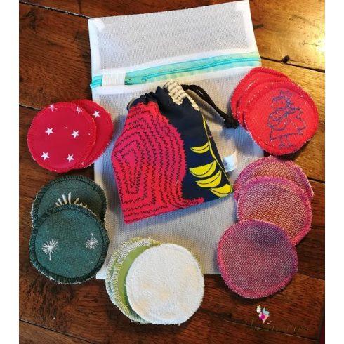 Mosható arctisztító korong szett ajándék mosózsákkal - vegyes
